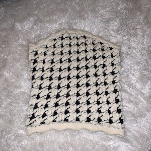 Urban Outfitters houndstooth knit tube top